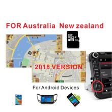 2018 version Australia & New Zealand GPS MAP  with 8G card for Android device car navigation