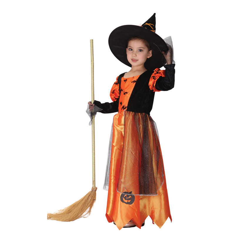 scary girls Carnival princess children child fancy dress Hat christmas halloween costume for kids witch costumes party cosplay