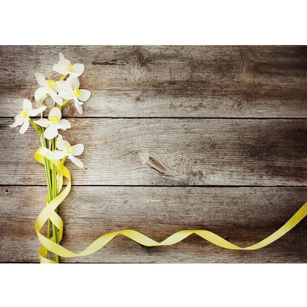 Fleur bois photographie toile de fond pour Photo Shoot accessoires enfant enfants bébé douche marchandises vinyle tissu Photo arrière-plan Photo Shoot