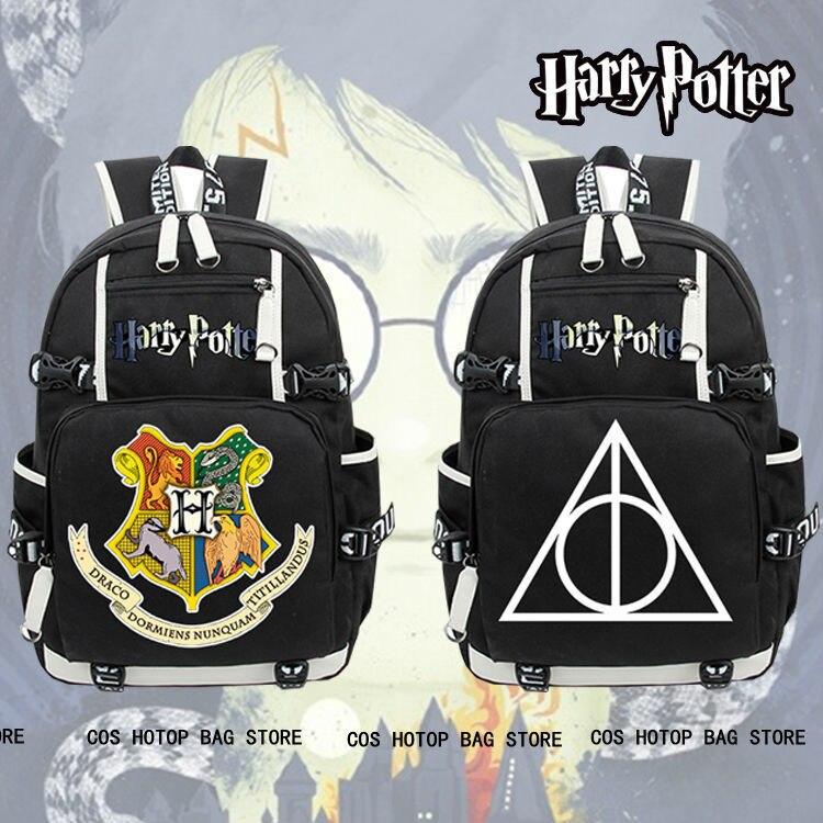 Hot Harry Potter Backpack Men New Knapsack Otaku Packsack School Student Bags anime death note backpack knapsack packsack travel study school bags otaku shoulders bag package