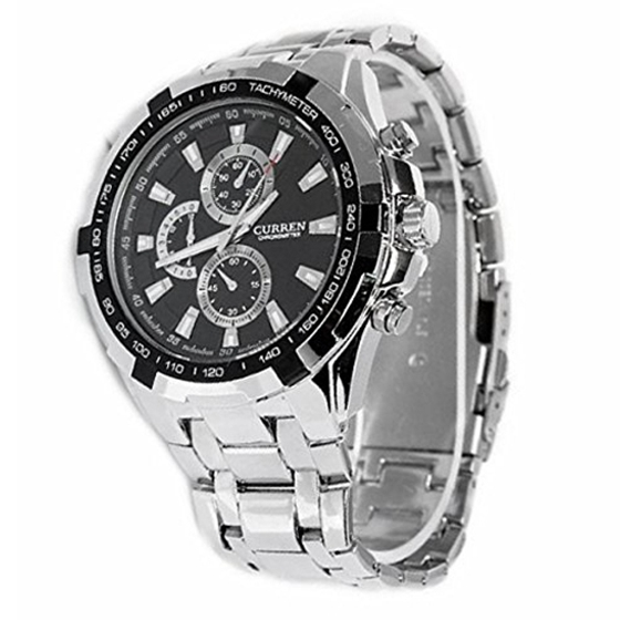 CURREN Men's mechanism quartz watch with stainless steel case for any wrist watch waterproof