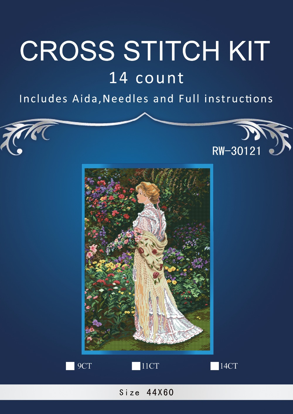 Top Quality Beautiful Nostalgic Counted Cross Stitch Kit Dimensions 35119 In Her Garden Lady Woman Girl