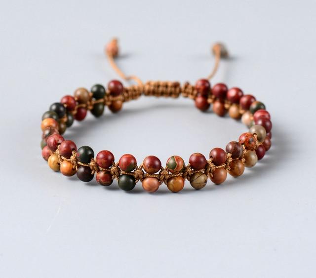 High Fashion Pico Stone Braided Bracelet Handmade String Friendship Dropship Custom Bracelets