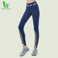 VANSYDICAL Yoga Leggings Women Printed Sports Tight Cross Design Yoga Pants Workout Leggings Running Tights Fitness