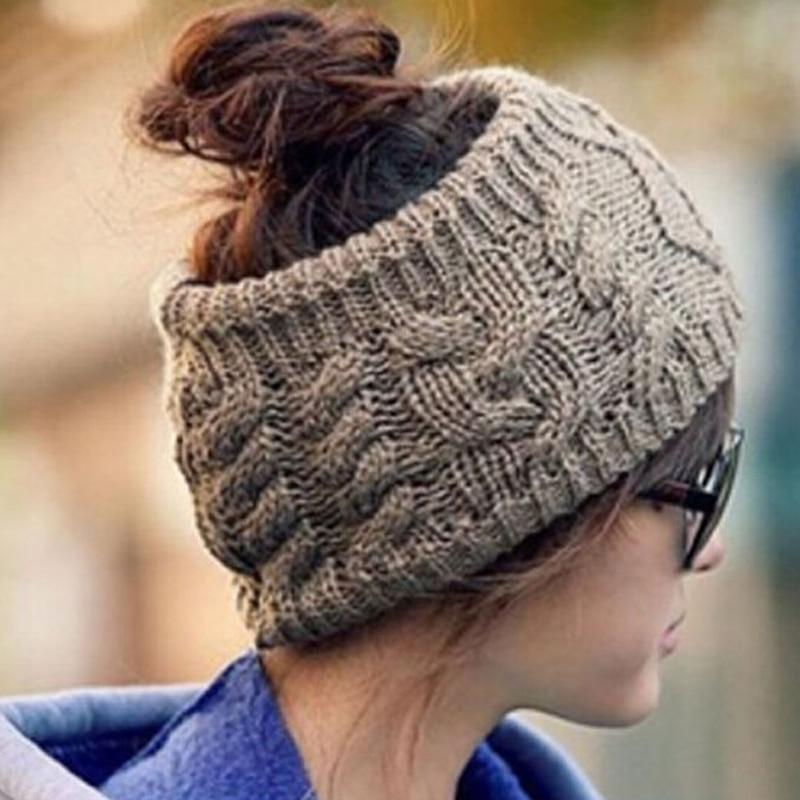 1PC Hot Korean Style Vogue Women Men Unisex Winter Warm Braided Soft Knit Wool Halloween Hat Cap Comfy HairBands 2016 New