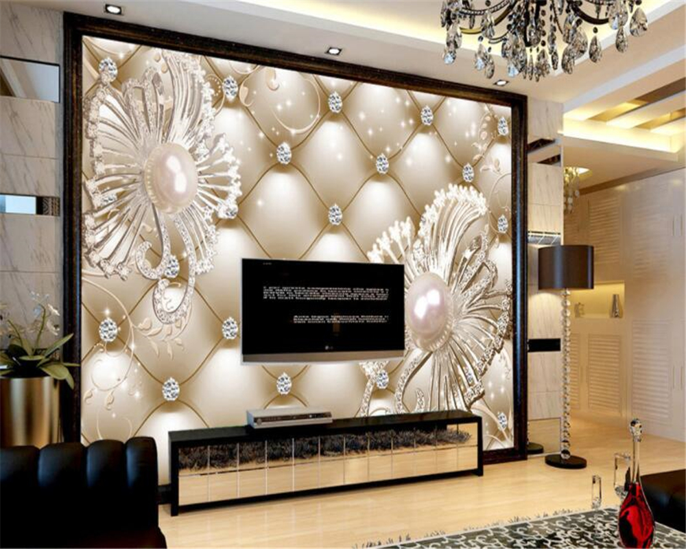 Beibehang wallpaper for walls 3 d Silk cloth wallpaper soft pack diamond jewelry luxury floral wall background 3d wallpaper