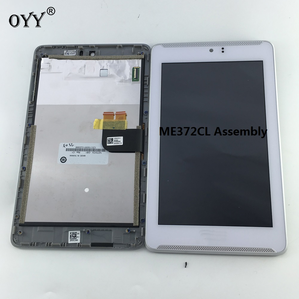 LCD Display Panel Screen Monitor Touch Screen Digitizer Glass Assembly with frame 7 Inch For ASUS Fonepad 7 LTE ME372CL K00Y srjtek lcd display panel screen monitor touch screen digitizer sensor glass with frame for asus vivotab note 8 m80ta m80t