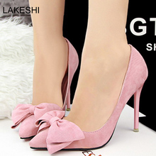 Sexy Bow Pointed Toe High Heels