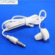 Linhuipad 2pcs 1-Bud Single Ear Earphone Patient in-ear single side mono earphones hospital tv hearing Aid earbud