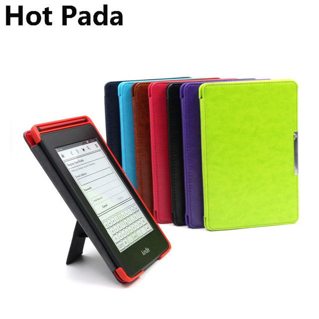 sale retailer 55d95 c29ec US $7.99 |Hot Pada pu leather cover case for amazon all new kindle  paperwhite 1 2 3 ereader magnetic stand case+screen protector-in Tablets &  e-Books ...