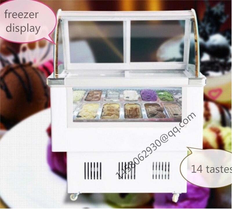 China Fish Chest Cooler Ice Cream Freezer Cabinet Food Freezer Ice Cream Display Cabinet With 14 Taste