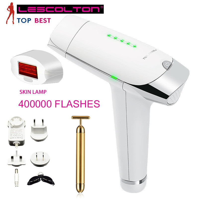 Lescolton Depilador a Laser Hair Removal Device Permanent Painless Laser Depilador Facial Home Epilator Unisex for