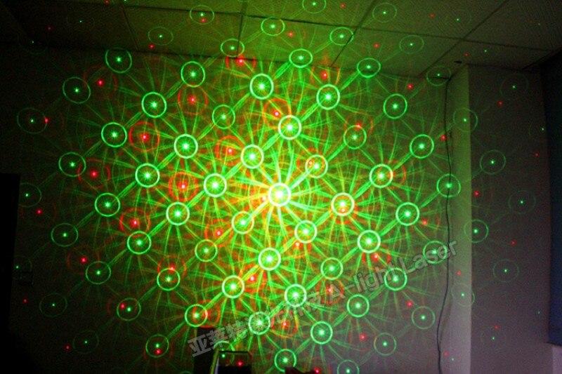 Tinhofire Mini LED Stage Light Lamp R&G Laser Projector Stage Lighting whirlwind pattern Sound Control DJ Disco Party Club KTV