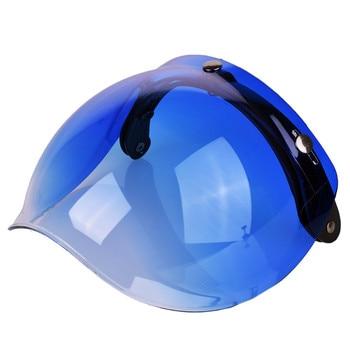 4b207b24589da NENKI Universal 3-Snap Flip up lente ajustable de Visor escudo facial  máscara de la motocicleta del Casco de Moto Capacete Casco casque