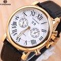 Top Luxus-automatische Mechanische Uhren Männer FORSINING Lederband Beobachten Männlichen Mode Lässig Geschäfts Clock reloj hombre
