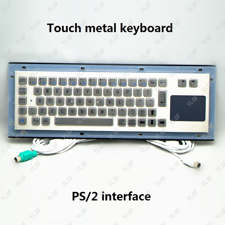 Metal Keyboard Ylgf Ps 2 Interface Embedded Keyboard Waterproof (Ip54) Dust Anti Violence Stainless Steel Ring Stainless Steel metal keyboard ylgf ps 2 super mini embedded industrial key waterproof ip65 dust anti violence stainless steel ring