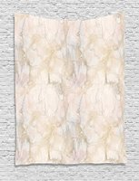 Marble Tapestry Pink and Peach Marble Background with Crack Patterns Architecture and Building Material, Wall Hanging