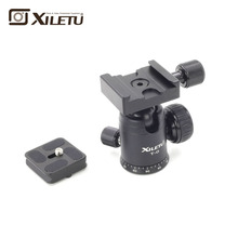 Hugely popular Xiletu T-0 Portable Light weight Ball Head&Clamp and Mounting Plate For Tripod 1/4 3/8Screw Digital
