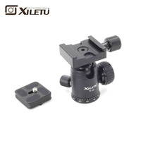 Hugely popular Xiletu T 0 Portable Light weight Ball Head&Clamp and Mounting Plate For Tripod 1/4' 3/8'Screw For Digital