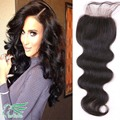 7a Grade 4*4 Peruvian Virgin Hair Lace Closure Body Wave Free/Middle/Three Part Closures 100% Human Hair Body Wave Lace Closures