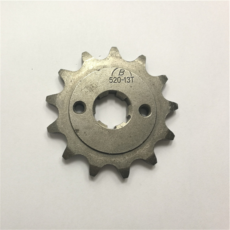 Front Engine Sprocket 520# 13 Teeth 20mm For 520 Chain With Plate Locker Motorcycle Dirt Bike PitBike ATV Quad Parts image