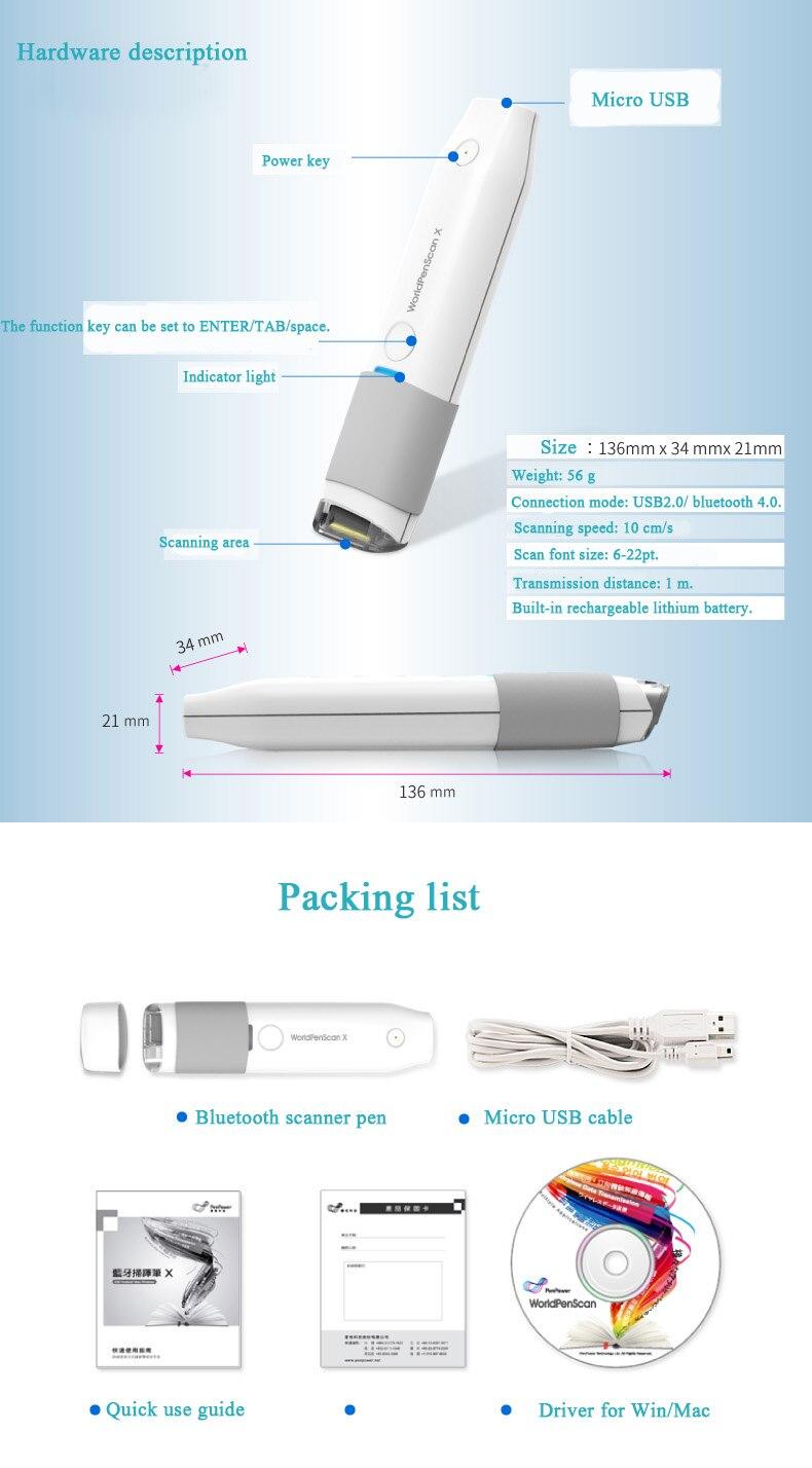 Novo TOP MSE05 Bluetooth caneta digitalização apoio