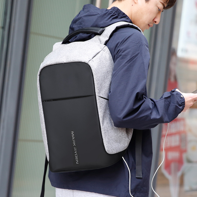 Multifunction USB charging Men 15inch Laptop Backpacks For Teenager Fashion Male Mochila Leisure Travel backpack anti thief 5