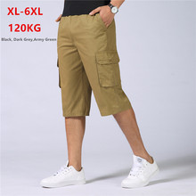 Men Shorts Summer Long Short Cargo Cotton Mens Homme Spodenki Meskie Ete Hip Hop Plus Size 5XL 6XL Casual Man Army Half Trousers цена 2017