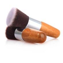 ELECOOL 1 шт., горячая Кисть для макияжа, плоская основа, пудра, косметические кисти, косметическая Кисть для макияжа, инструмент, бамбуковые кисти Кабуки