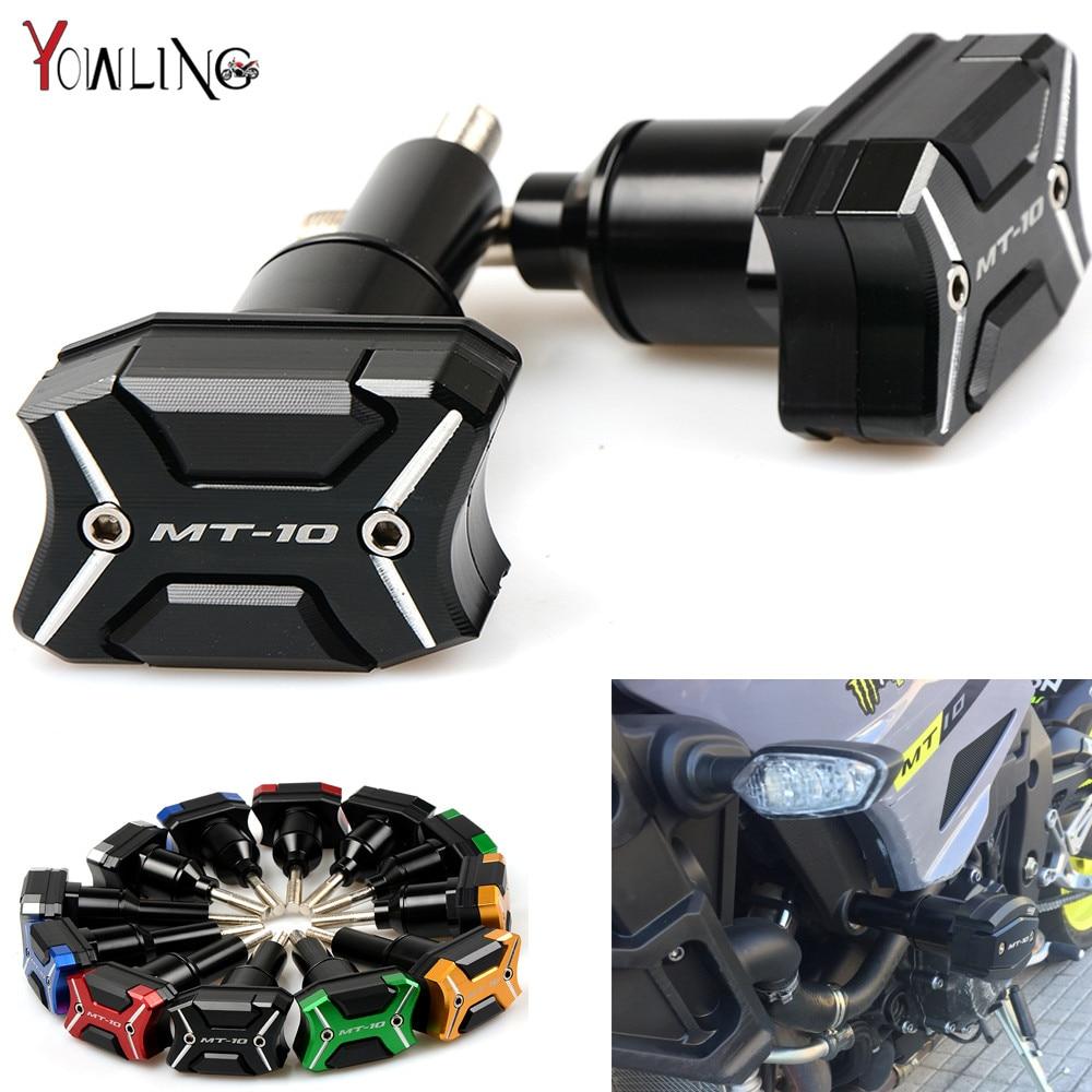 WithMT-10logo Motorcycle Frame Crash Pads Engine Case Sliders Protector For Yamaha MT-10 MT10 MT 10 2016