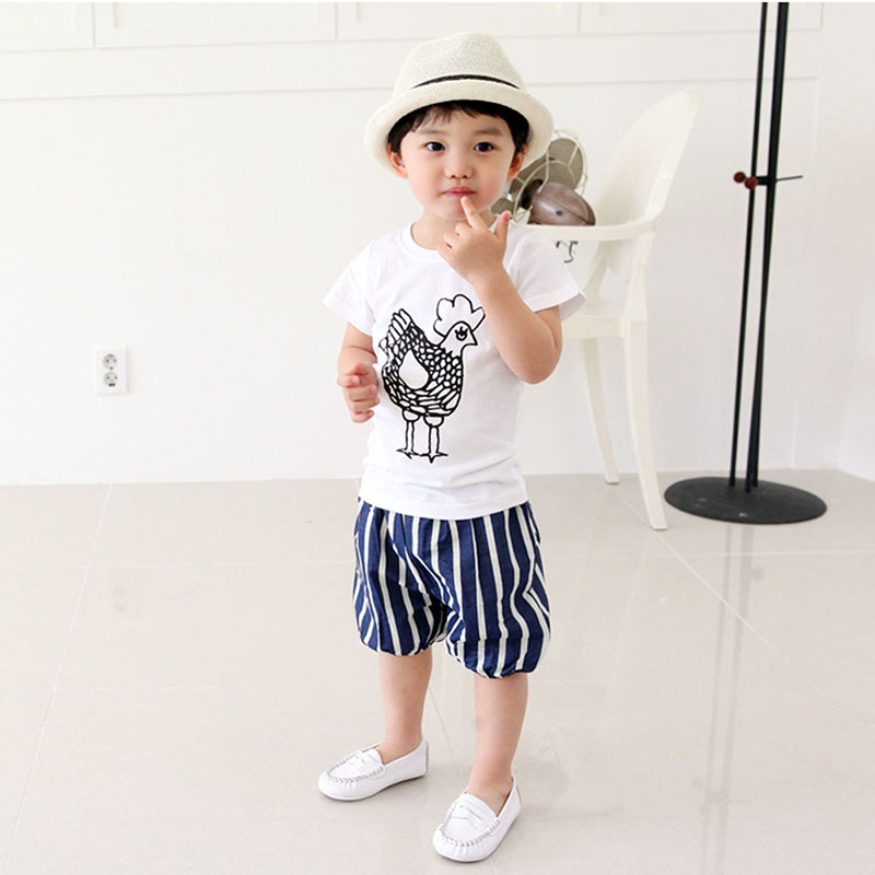 2-7Y-Kids-Toddler-Boys-Short-Sleeve-Cotton-T-shirt-Summer-Pullover-Tee-Tops-B998-4