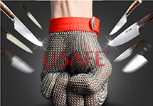 Wholesale Welding 304L stainless level 5 cut proof metal mittens both hand can use butcher glove lobster glove sewing glove top quality 304l stainless steel mesh knife cut resistant chain mail protective glove for kitchen butcher working safety
