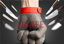Wholesale Welding 304L stainless level 5 cut proof metal mittens both hand can use butcher glove lobster glove sewing glove