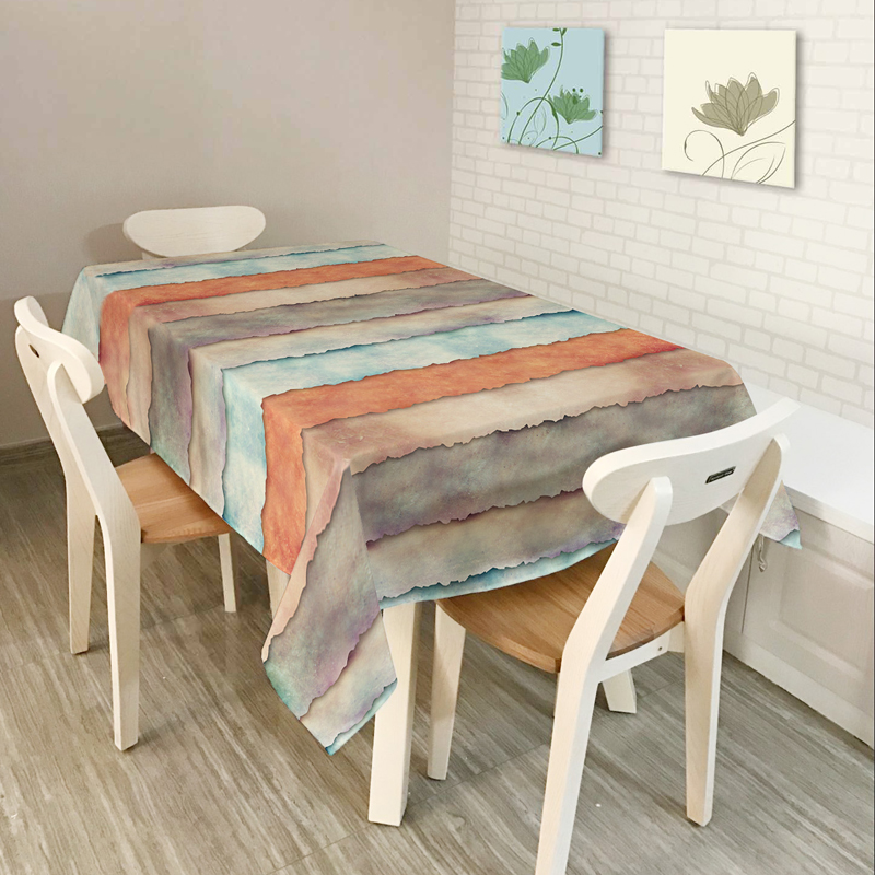 New Home decor Table Cloth Dining Tablecloth Coffee Restaurant Table Cloth Cover American style Music Stripe Geometry Pattern