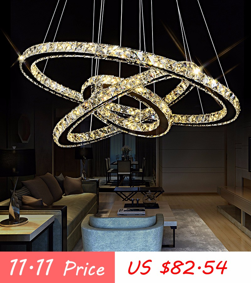 LED Crystal Chandelier Light for Aisle Porch Hallway Stairs Crystal Ring  dining light wth LED Light Bulb 8 Watt 100% Guarantee - us965 3be46cbd649d