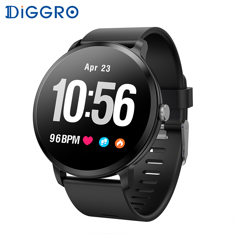 Diggro V11 Smart watch Activity Fitness tracker IP67 waterproof Heart rate monitor Tempered glass Men women smartwatch PK Q8 colmi v11 smart watch ip67 waterproof tempered glass activity fitness tracker heart rate monitor brim men women smartwatch