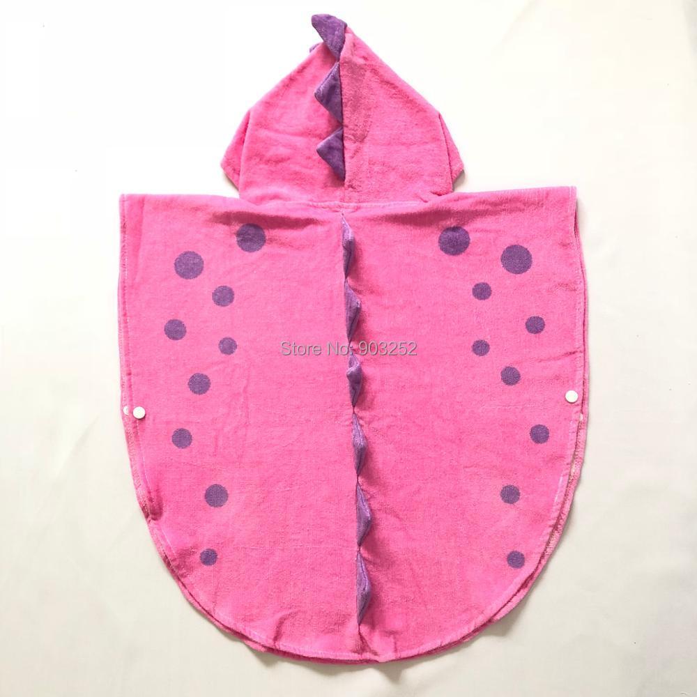 Пончо с капюшоном и лапой динозавра/детское банное полотенце с капюшоном/Детские пляжные полотенца/Детские пончо