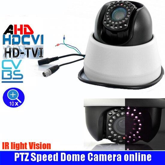 Caméra dôme de vitesse HD 2.0MP AHD CCTV PTZ extérieure et intérieure panoramique/inclinaison 10X Zoom Vision nocturne caméra de sécurité AHD PTZ RS485