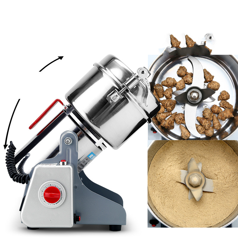 1000g Electric Grinder High Quanlity Stainless Steel Blade for Grains Cereals Spice Coffee Beans Nuts Commercial