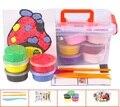 24 Multi-color Con Caja de Arena Cinética Niños de Inteligencia Juguetes Plastilina Juego de Arena Niños Juguetes D318