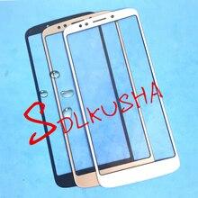 10 шт./лот передний внешний экран Стеклянная линза сменный сенсорный экран ЖК чехол для Motorola Moto G6 Play xt006