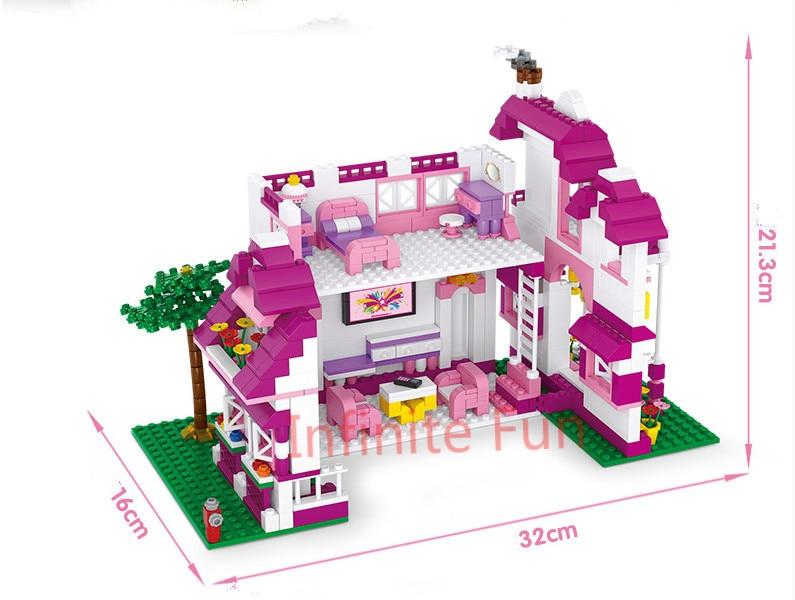 Sluban Pink Dream Series Sunshine Villa Top Building Block Bricks