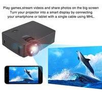 Promo Proyector LCD E08 con la misma pantalla para cine en casa Proyectores portátiles HDMI USB AV