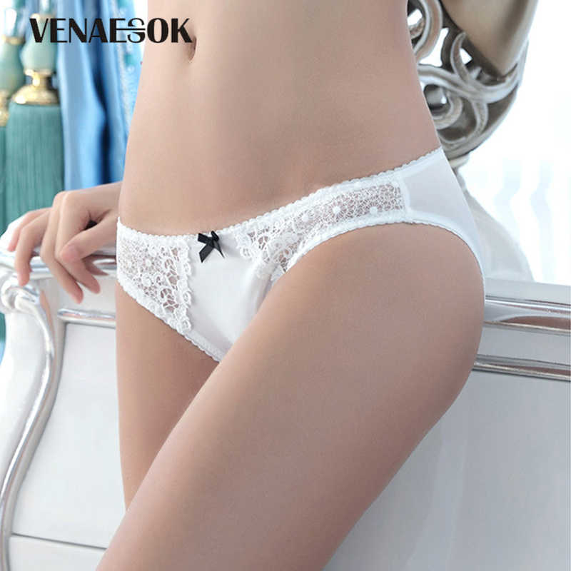 60077c18be1f8 New Women Underwear Embroidery White Lace Transparent Briefs Low-rise Sexy  Panties Plus Size XXL