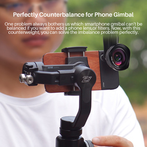 Image 5 - Zhiyun חלק 4 3 ציר חכם כף Gimbal מייצב משקל נגד & רחב זווית עדשת מאקרו עבור iPhone XS מקסימום X 8 7 S9 S8