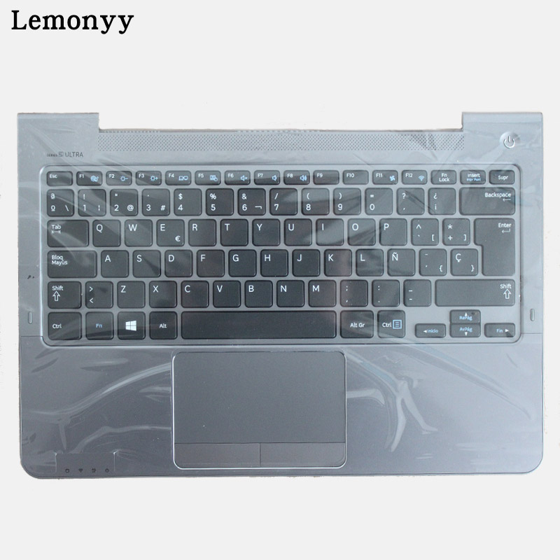 SP For Samsung NP530U3C NP530U3B NP535U3C 530U3B 530U3C NP540U3 NP532U3C NP532U3A Spanish laptop keyboard gray palmrest coverSP For Samsung NP530U3C NP530U3B NP535U3C 530U3B 530U3C NP540U3 NP532U3C NP532U3A Spanish laptop keyboard gray palmrest cover