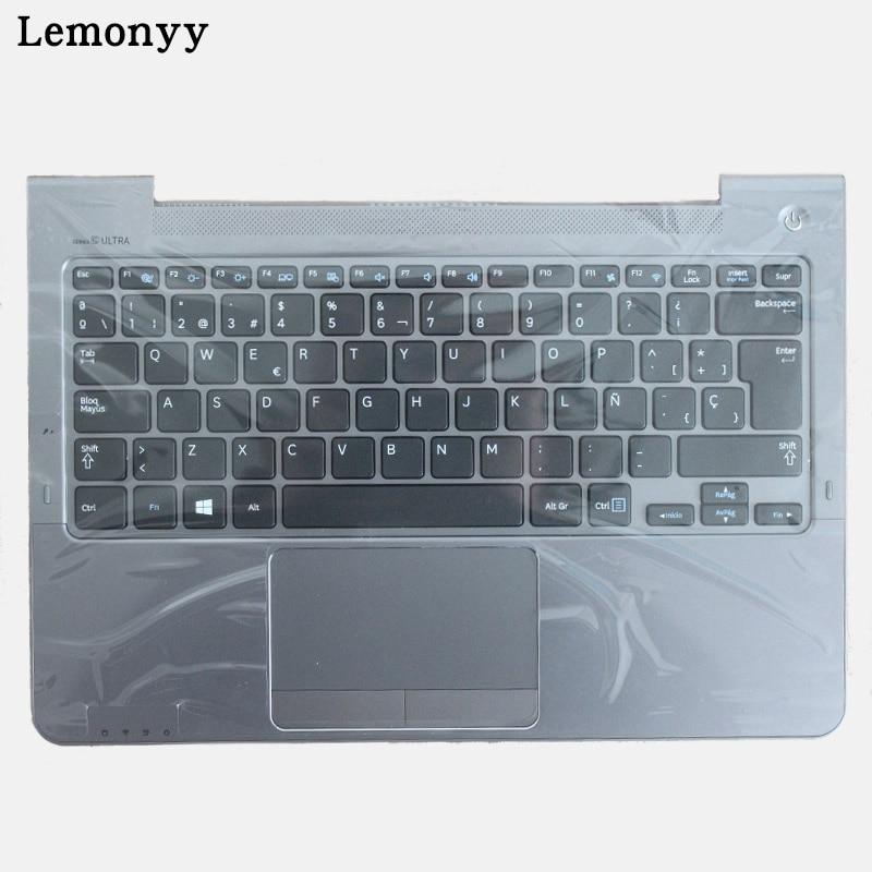 SP Pour Samsung NP530U3B NP530U3C NP535U3C 530U3B 530U3C NP540U3 NP532U3C NP532U3A Espagnol clavier d'ordinateur portable gris repose-poignets couvercle