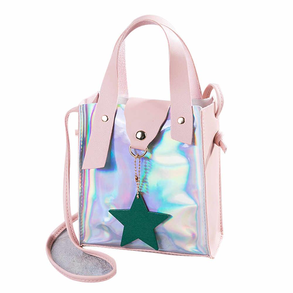 2018 Shoulder Bags For Women Clear Crossbody Bag Transparent Laser Mini Messenger  Bags Handbags Clear PVC d7698d737d441
