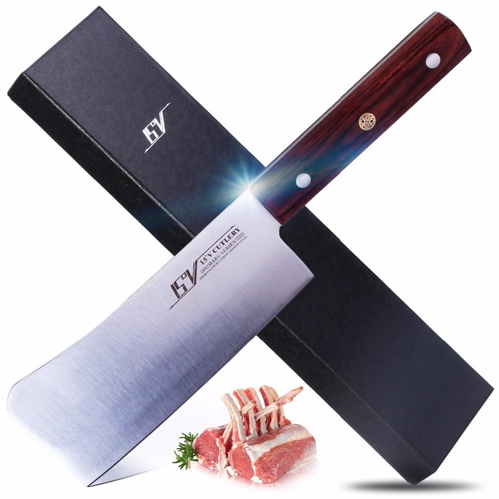 15 V ONIMARU Série 6 Heavy Duty Couperet Couteau Prime Haute teneur en carbone En Acier Inoxydable Allemand avec Pakkawood Poignée Viande couteaux Powe