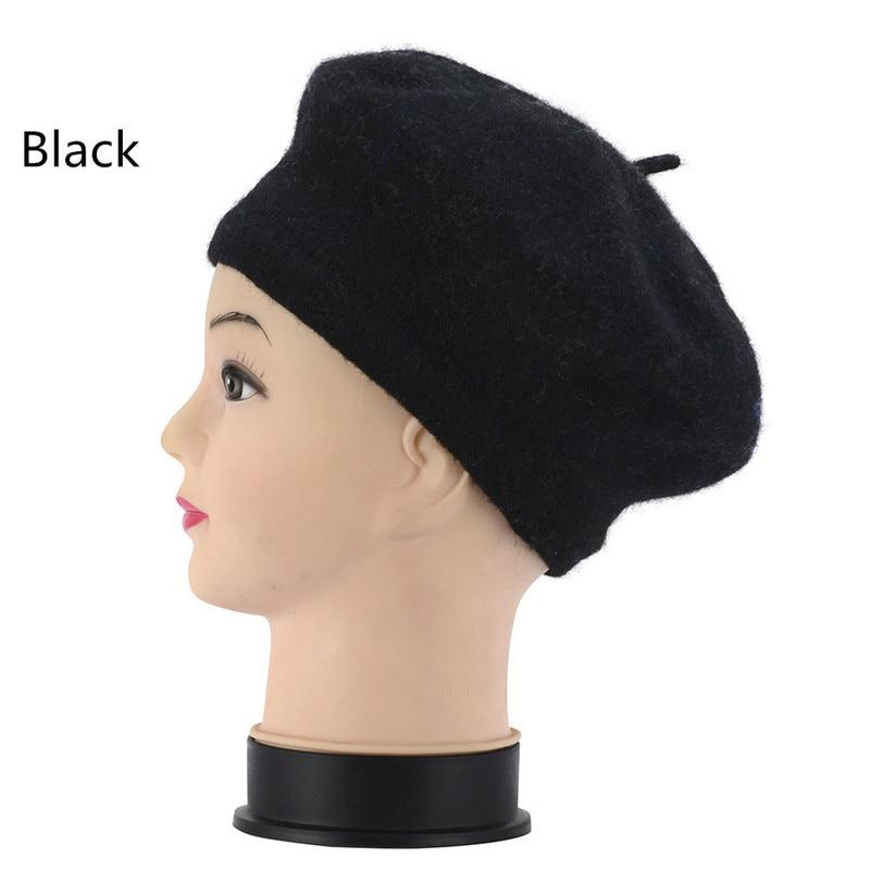 Women's Winter Hat Beret Female Wool Cotton Blend Cap Autumn 2018 Brand New Woman Hats Caps